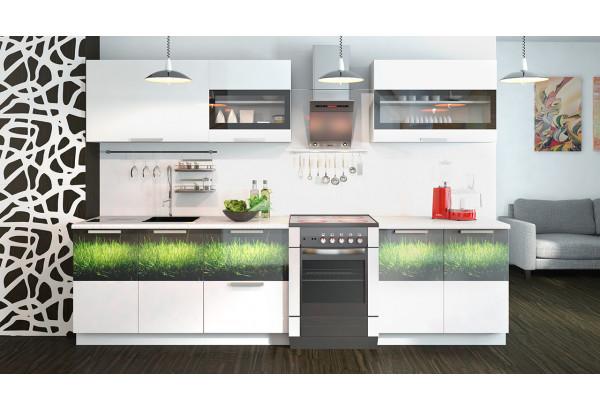 Кухонный гарнитур длиной - 300 см Фэнтези (Белый универс)/(Грасс) - фото 2