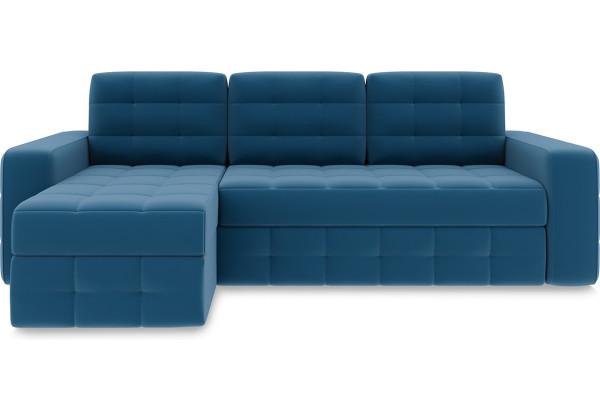 Диван угловой левый «Райс Т1» Beauty 07 (велюр) синий - фото 2