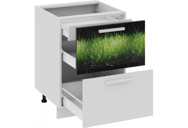 Шкаф напольный с 2-мя ящиками и 1-м внутренним ФЭНТЕЗИ (Грасс) - фото 1