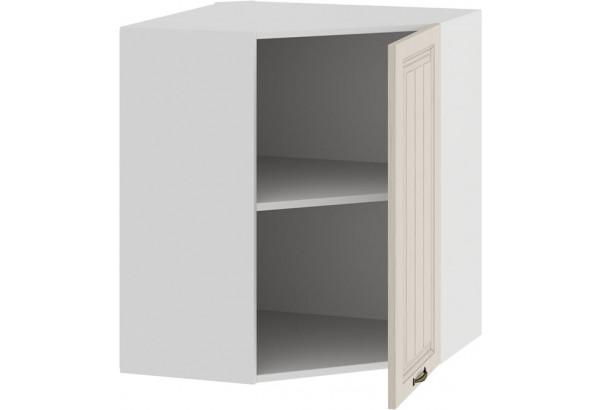 Шкаф навесной угловой «Лина» (Белый/Крем) - фото 2