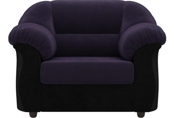 Кресло Карнелла Фиолетовый/Черный (Велюр) - фото 2