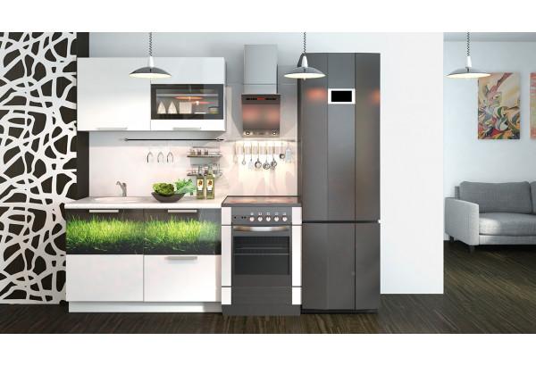 Кухонный гарнитур длиной - 180 см Фэнтези (Белый универс)/(Грасс) - фото 2