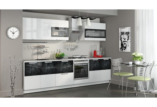 Кухонный гарнитур длиной - 300 см (со шкафом НБ) Фэнтези (Белый универс)/(Лайнс) - фото 2