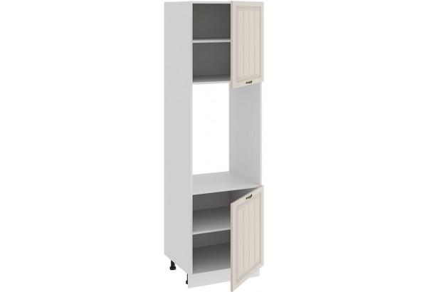 Шкаф-пенал под бытовую технику с двумя дверями «Лина» (Белый/Крем) - фото 2