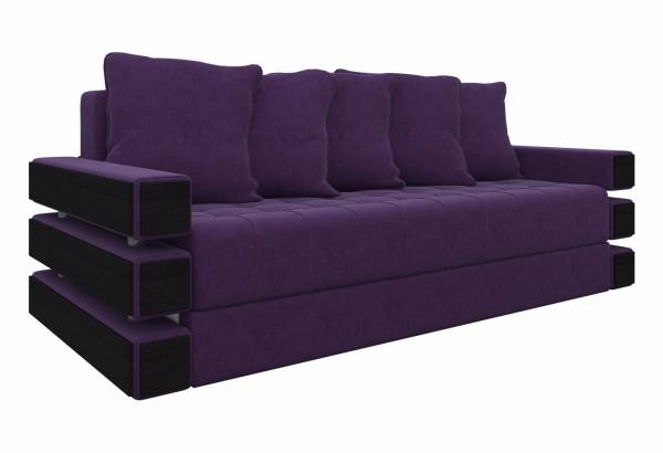 Диван прямой Венеция Фиолетовый (Микровельвет) - фото 1