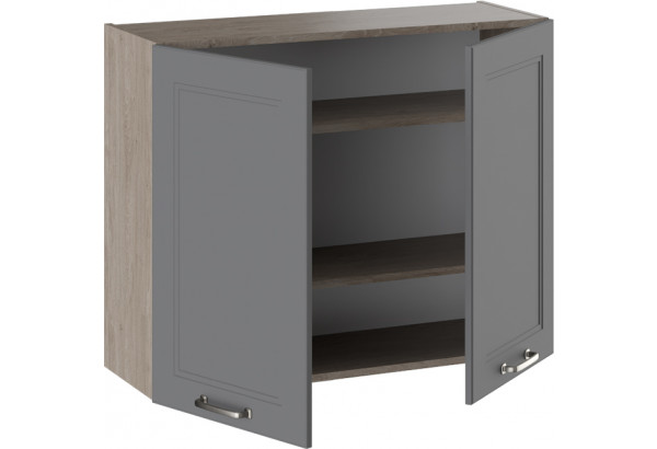 Шкаф навесной ОДРИ (Серый шелк) - фото 2