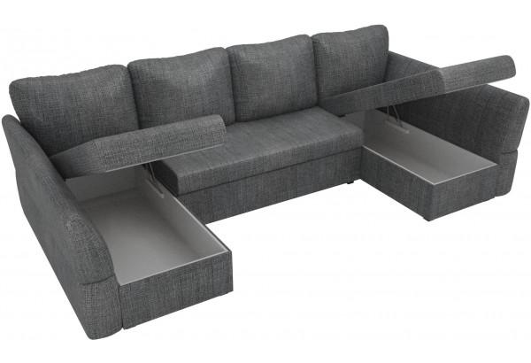 П-образный диван Гесен Серый (Рогожка) - фото 5