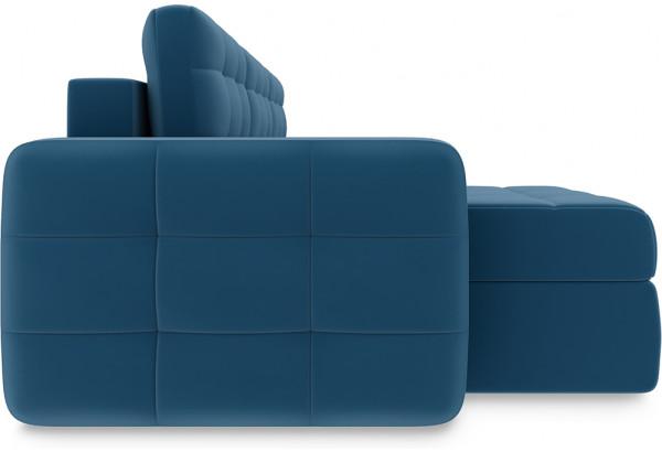 Диван угловой левый «Райс Т1» Beauty 07 (велюр) синий - фото 4