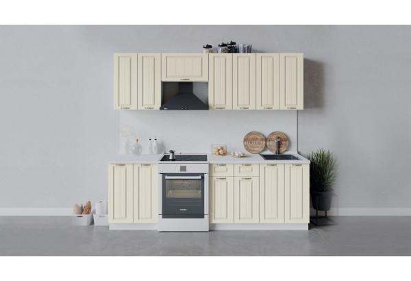 Кухонный гарнитур «Лина» длиной 240 см (Белый/Крем) - фото 1
