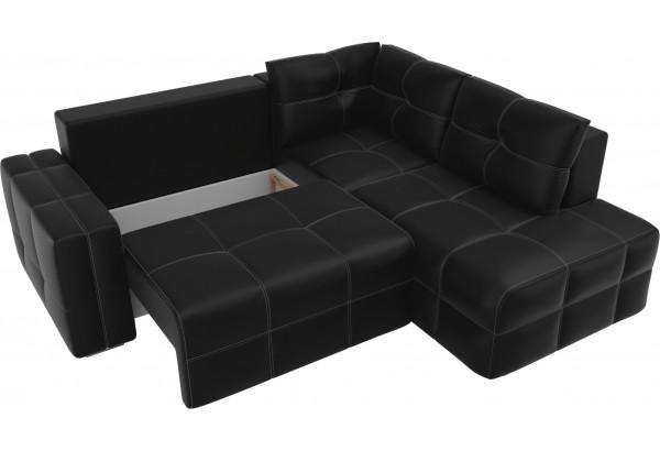 Угловой диван Леос Черный (Экокожа) - фото 5