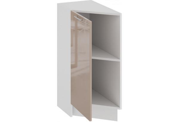 Шкаф напольный торцевой с одной дверью «Весна» (Белый/Кофе с молоком) - фото 2