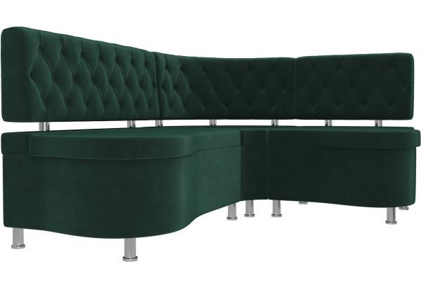 Кухонный угловой диван Вегас Зеленый (Велюр) - фото 3