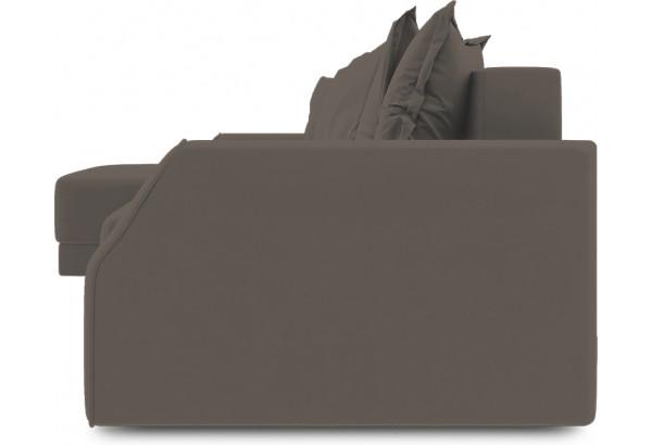 Диван угловой левый «Люксор Slim Т1» (Poseidon Coffee (иск.замша) коричневый) - фото 3