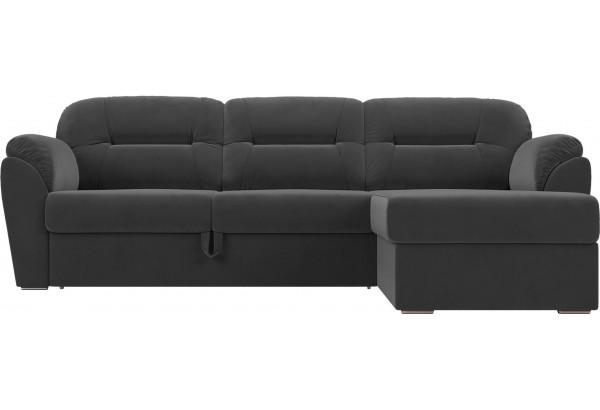 Угловой диван Бостон Серый (Велюр) - фото 2