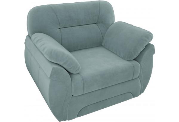 Кресло Бруклин бирюзовый (Велюр) - фото 4