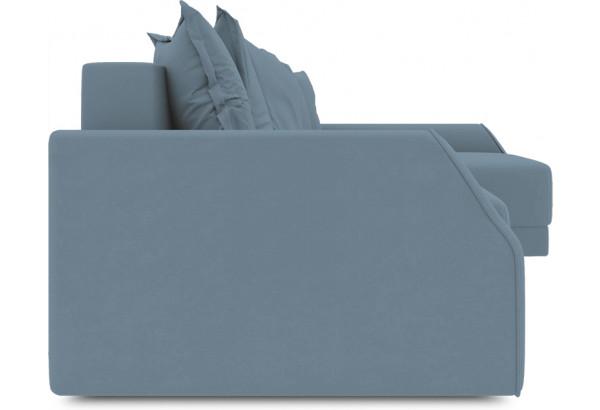 Диван угловой правый «Люксор Slim Т2» (Poseidon Ocean (иск.замша) серо-голубой) - фото 3
