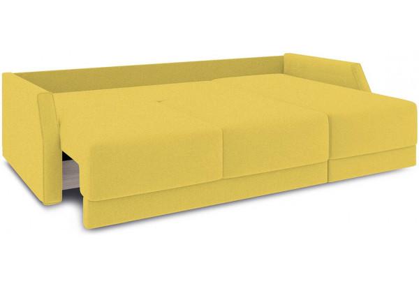 Диван угловой правый «Люксор Slim Т1» (Neo 08 (рогожка) желтый) - фото 7