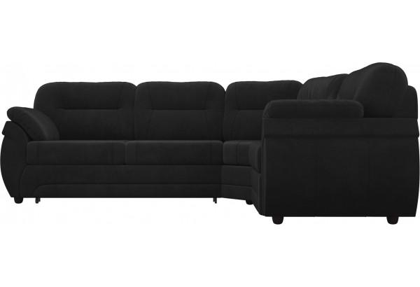 Угловой диван Бруклин Черный (Велюр) - фото 2