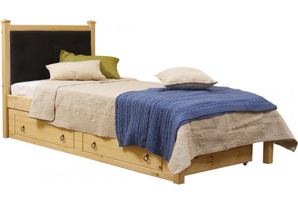 Кровать мягкая 1/1 с ящиками - фото 2