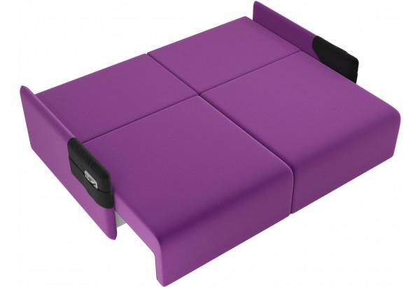 Прямой диван Армада Фиолетовый/Черный (Микровельвет) - фото 7