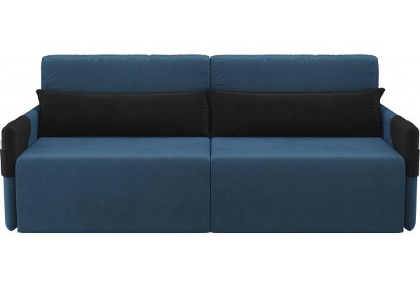 Прямой диван Армада голубой/черный (Велюр) - фото 2