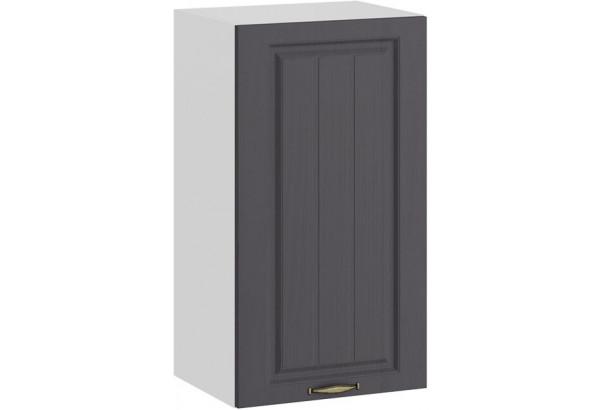 Шкаф навесной c одной дверью «Лина» (Белый/Графит) - фото 1