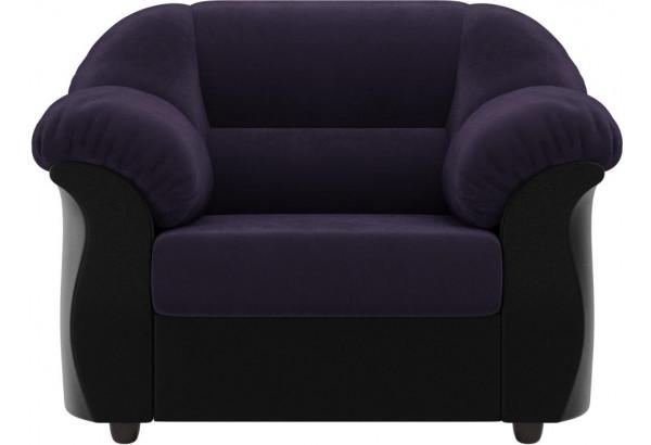 Кресло Карнелла Фиолетовый/Черный (Велюр/Экокожа) - фото 2