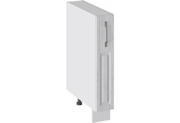 Шкаф напольный с выдвижной корзиной (ПРОВАНС (Белый глянец/Санторини светлый)) - фото 1