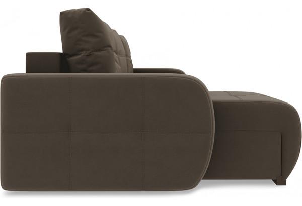 Диван угловой левый «Томас Slim Т1» Beauty 04 (велюр) коричневый - фото 5