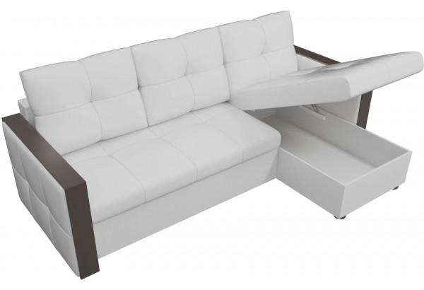 Угловой диван Валенсия Белый (Экокожа) - фото 5