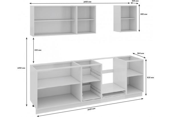 Кухонный гарнитур длиной - 240 см (со шкафом НБ) Фэнтези (Белый универс)/(Вуд) - фото 3