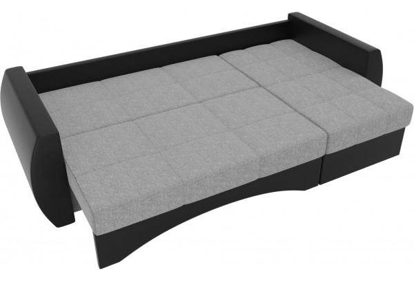 Угловой диван Сатурн Серый/черный (Рогожка/Экокожа) - фото 6