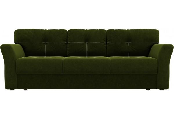 Диван прямой Манхеттен Зеленый (Микровельвет) - фото 2