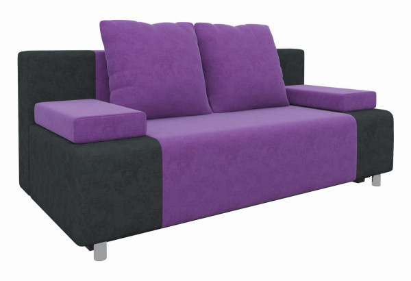 Диван прямой Шарль Фиолетовый/Черный (Микровельвет) - фото 1