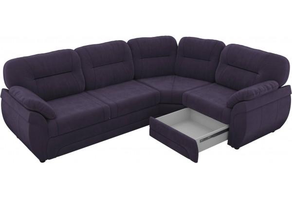 Угловой диван Бруклин Фиолетовый (Велюр) - фото 4
