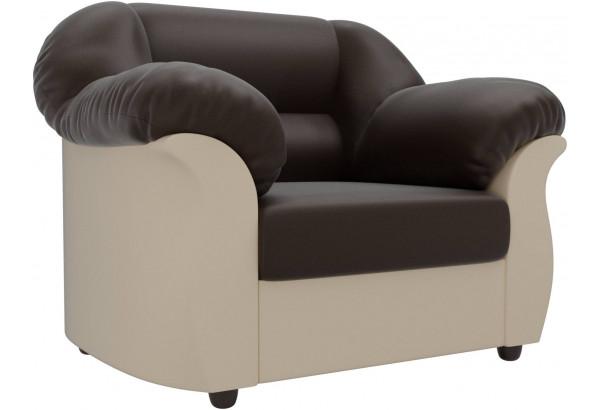 Кресло Карнелла Коричневый/Бежевый (Экокожа) - фото 1
