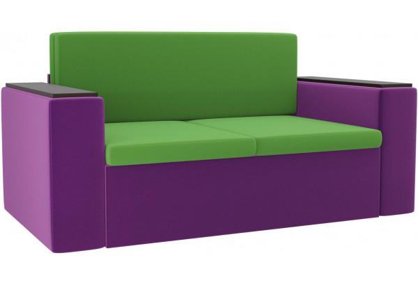 Детский диван Арси зеленый/фиолетовый (Микровельвет) - фото 1