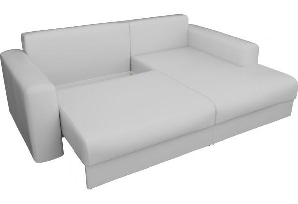 Угловой диван Мэдисон Белый (Экокожа) - фото 5