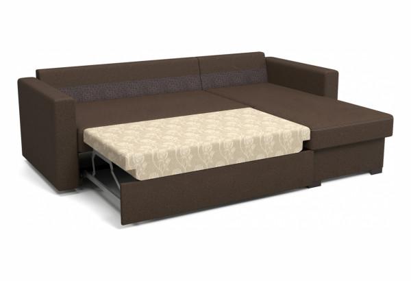 Угловой диван Джессика коричневый - фото 2