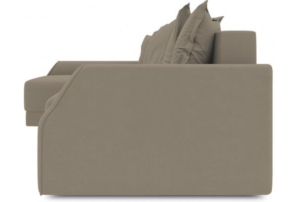 Диван угловой левый «Люксор Slim Т2» (Poseidon Mocco (иск.замша) светло-коричневый) - фото 3