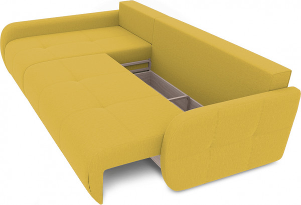 Диван угловой левый «Томас Slim Т2» (Poseidon Curcuma (иск.замша) желтый) - фото 6