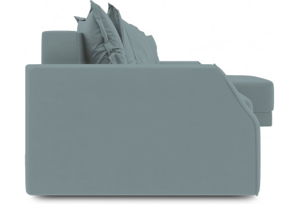 Диван угловой правый «Люксор Slim Т1» (Poseidon Lagoon (иск.замша) бледно-бирюзовый) - фото 3