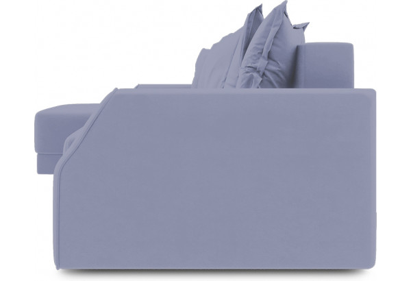 Диван угловой левый «Люксор Slim Т1» (Poseidon Blue Graphite (иск.замша) серо-фиолетовый) - фото 3