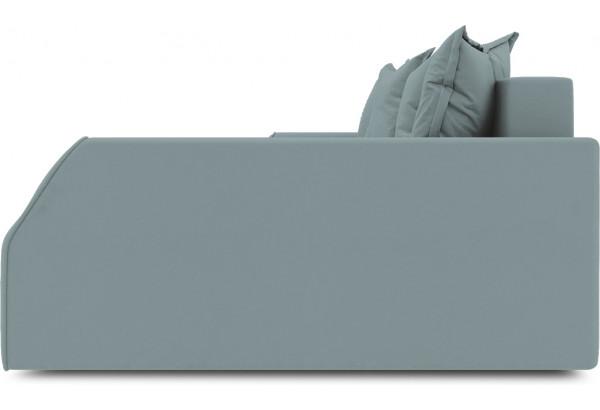 Диван угловой правый «Люксор Slim Т2» (Poseidon Lagoon (иск.замша) бледно-бирюзовый) - фото 5