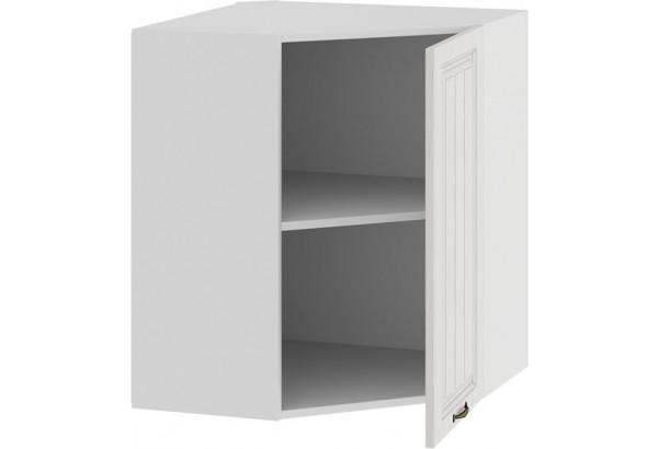 Шкаф навесной угловой «Лина» (Белый/Белый) - фото 2