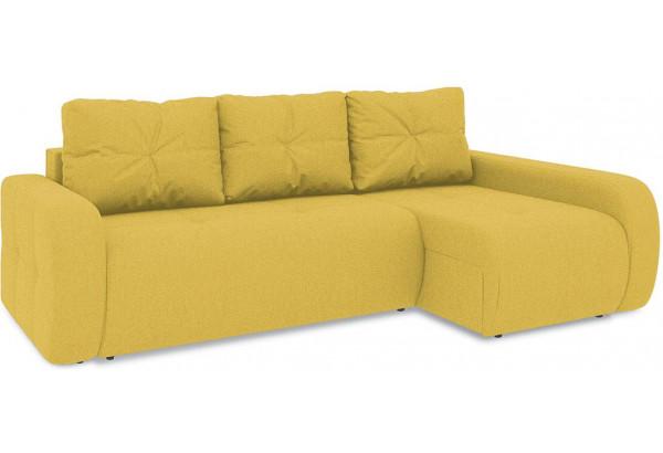 Диван угловой правый «Томас Т2» (Neo 08 (рогожка) желтый) - фото 1