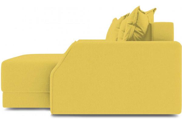 Диван угловой правый «Люксор Slim Т1» (Neo 08 (рогожка) желтый) - фото 5