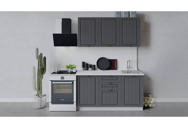 Кухонный гарнитур «Лина» длиной 150 см (Белый/Графит) - фото 1