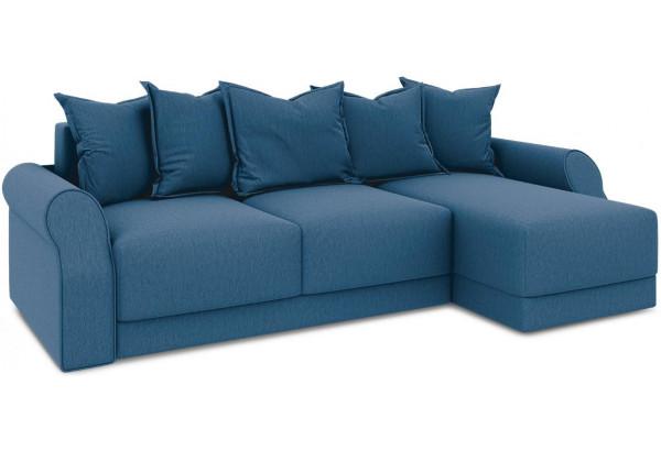 Диван угловой правый «Люксор Т1» Beauty 07 (велюр) синий - фото 1