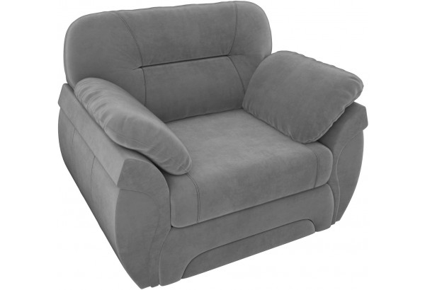 Кресло Бруклин Серый (Велюр) - фото 4